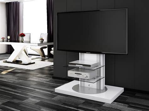 Tv Eckschrank Modern by Roma White Swivel High Gloss Tv Stand Modern Tv Stands
