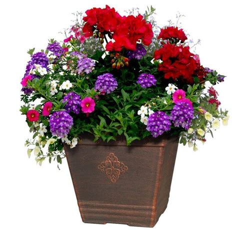 Outside Flower Pots Home Garden Balcony Outdoor Patio Plant Pot Flower Planter