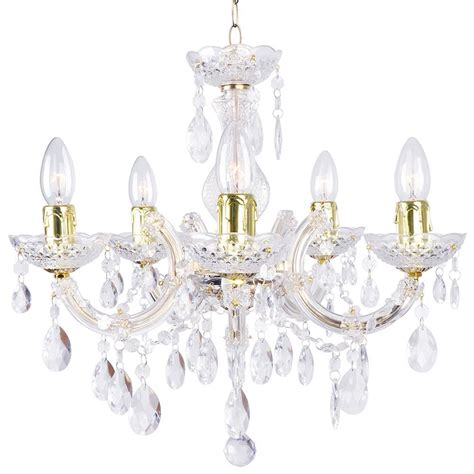 Chandelier Mounting Therese 5 Light Dual Mount Chandelier Gold From Litecraft