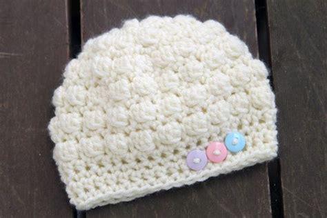 how to knit a bobble button bobble button crochet hat hat for newborns babies