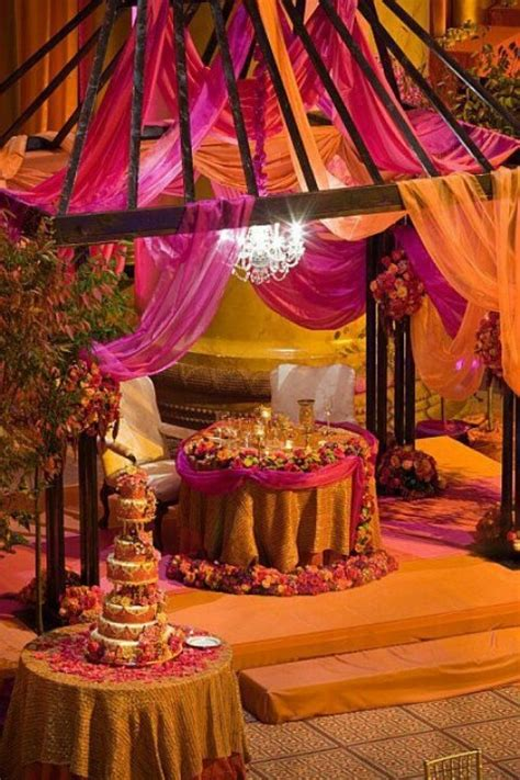 Colour Themes For Mehndi | a lovely colour theme for a mehndi function my desi