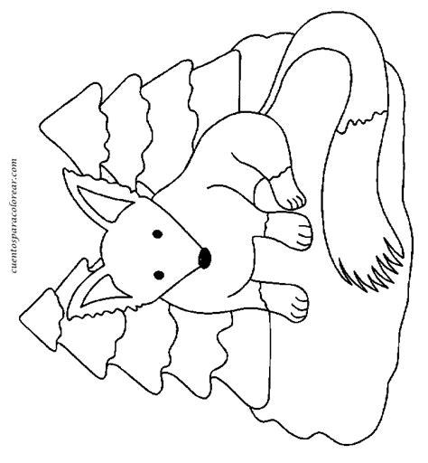dibujos infantiles zorro dibujos para colorear zorros