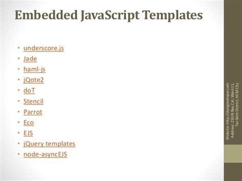 Templates Javascript by Javascript Template Engine