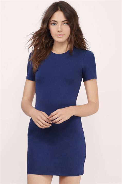 Id 2298 Blue Bodycon Dress black bodycon dress open back dress 30 00