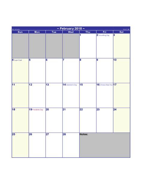 Us Calendar 2018 2018 Us Calendar Free