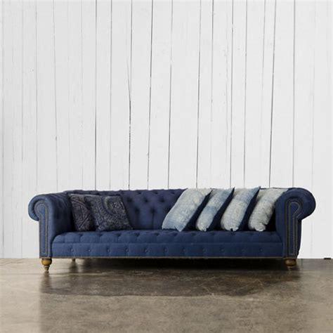 denim chesterfield sofa english chesterfield sofa ralph lauren home