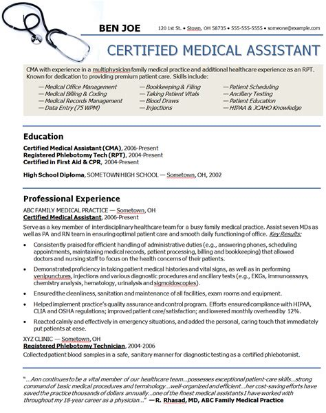 Medical Assistant Objective Statements For Resume Medical Assistant Resume Objectives Medical Assistant