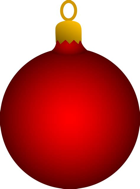 red christmas tree ornament free clip art