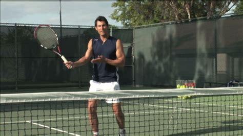 swinging volley tennis grip monkeysee videos