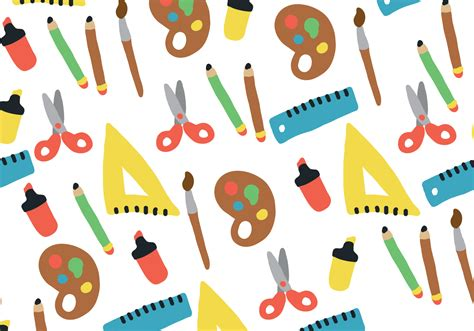 Back To School back to school pattern free vector stock