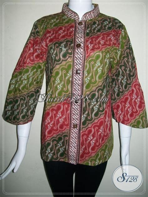 El Mukena Batik Cap Katun blus motif gradasi aneka warna elegan batik motif modern