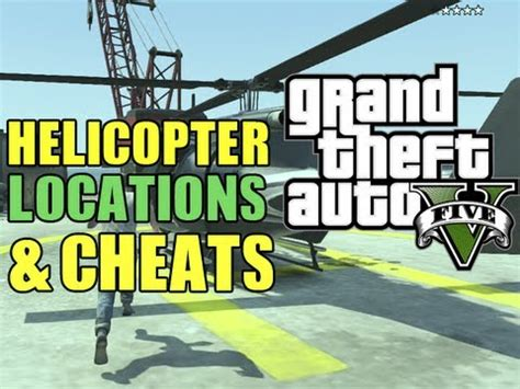 gta 5 secrets all helicopter locations + buzzard cheat