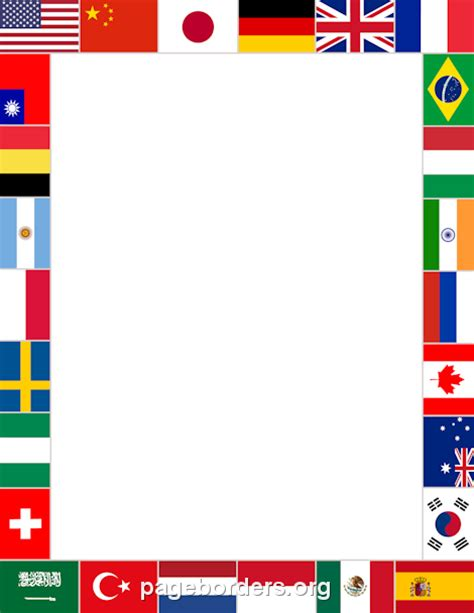 flags of the world quiz ppt printable world flags border use the border in microsoft