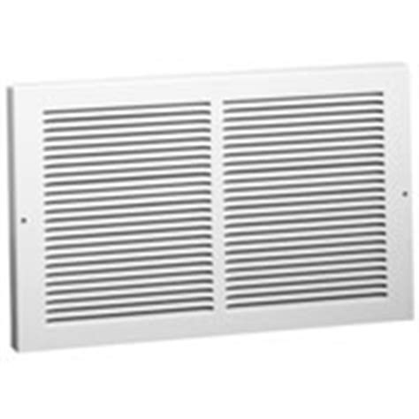 White Baseboard Return Grille Stamped Steel Construction