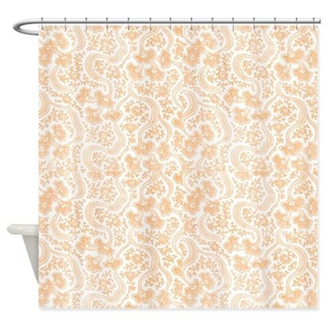 peach floral curtains peach vintage floral shower curtain by cheriverymery