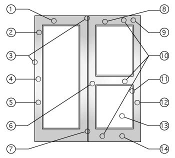 cross aluminum wide stile rail glass doors
