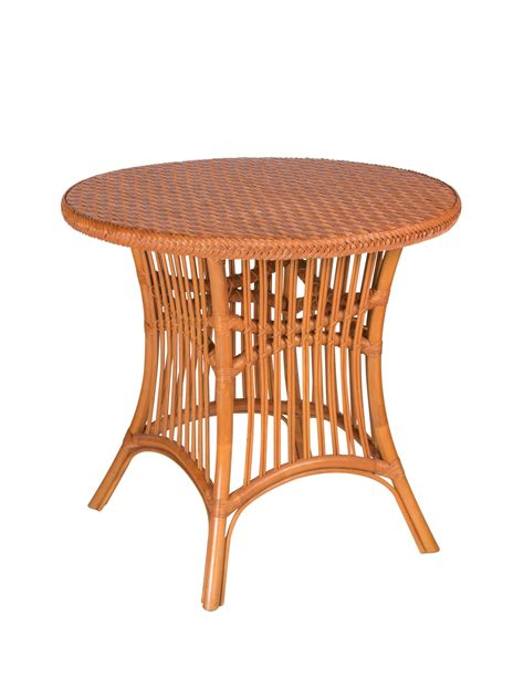 Rattan Dining Table Base Castine Wicker Dining Table Base Cottage Home 174