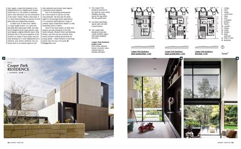 home design architecture magazine cooper park residence featured in houses australia s