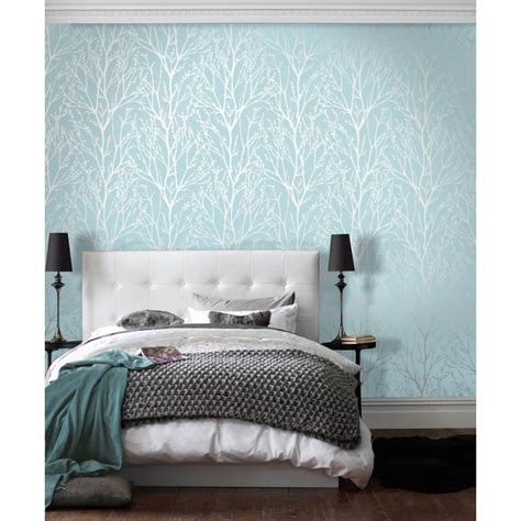 teal feature wall bedroom i love wallpaper shimmer wallpaper teal silver