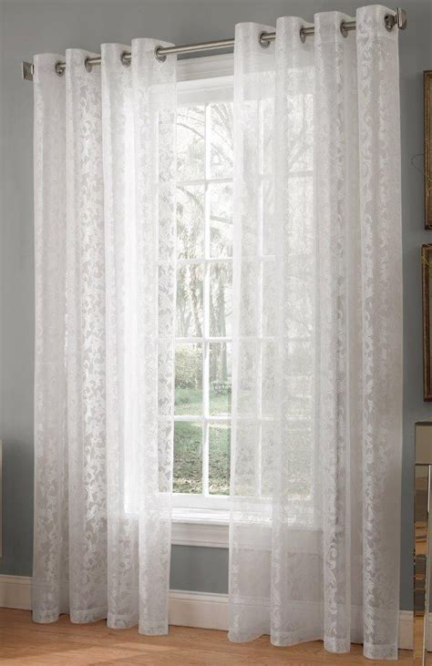 white lace curtain panels royale lace curtains white lorraine view all curtains