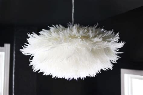 Feather Pendant Light Diy Feather Light Pendant For The Home Pinterest