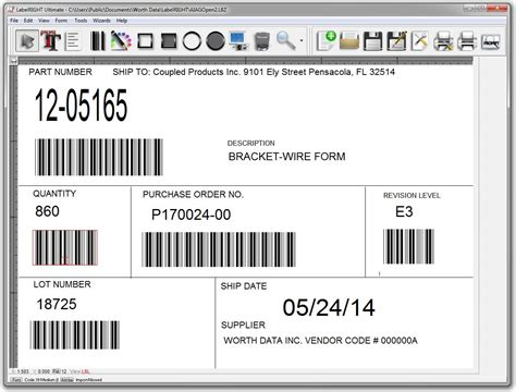 label design software excel labelright ultimate for windows bar code label design and