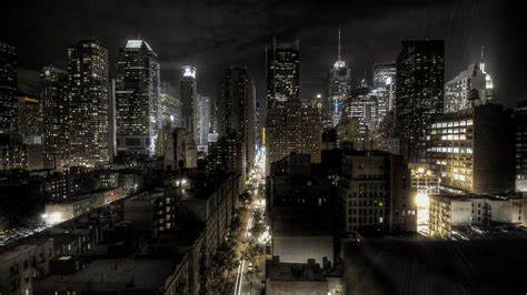 New York City Lights Cityscapes Night Wallpaper New York City Lights