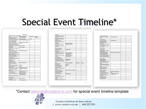 special event timelines images