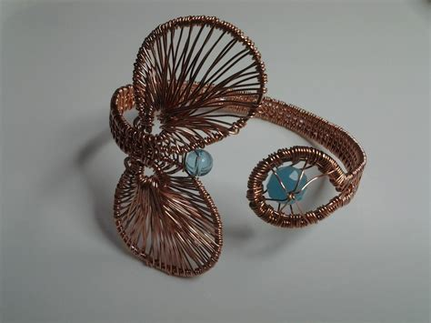 wire for jewelry projects you to see copper wire weave cuffs on craftsy