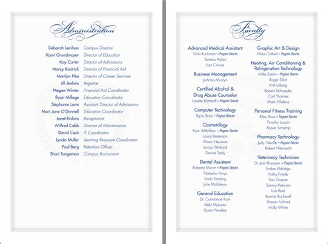 ceremony program template graduation program template beepmunk