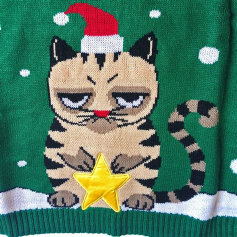 Sweater Cat 2 sweater grumpy cat cardigan with buttons