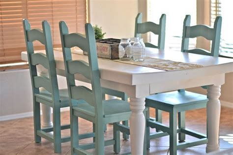 spray paint chairs white dining room decor white dining room table with aqua spray
