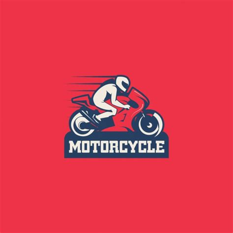 Motorrad Logos by Motorcycle Logo On A Red Background Vector Free Download