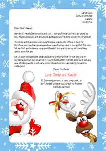 Personalised Letter From Santa Charity personalised letter from santa