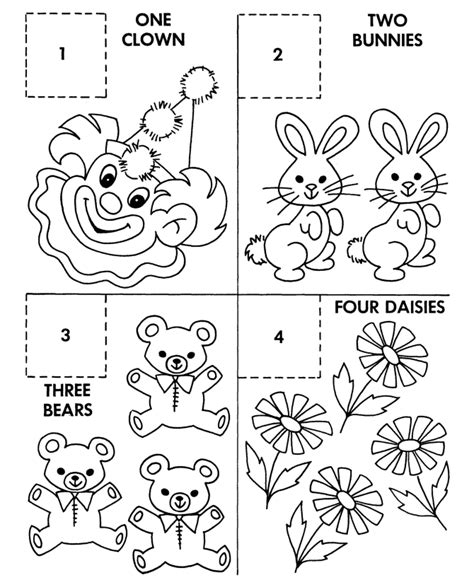 counting coloring pages for kindergarten coloring pages counting activity sheets count objects