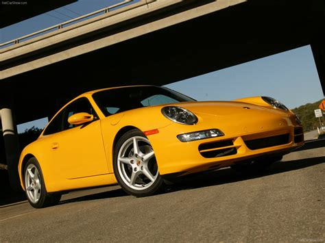 yellow porsche 2006 yellow porsche 911 carrera coupe wallpapers