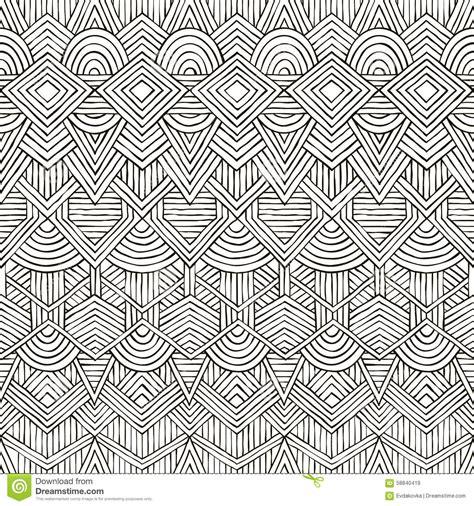 tribal pattern drawn vector seamless tribal pattern hand drawn stock vector