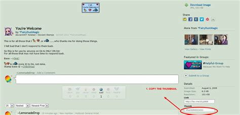how to when to put your tutorial how to put sts in your deviantid by lemonadedrop on deviantart