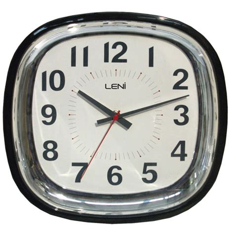 retro wall clocks black convex wall clock silent sweeping movement buy leni square black wall clock online purely wall clocks