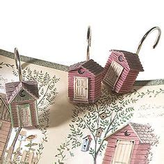 outhouse shower curtain hooks outhouses shower curtain now how cute is this