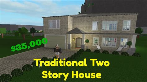 how to build a two story house bloxburg traditional two story house speed build youtube