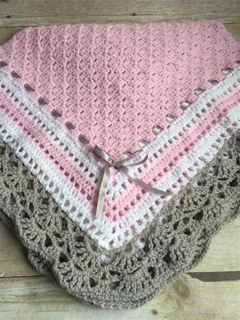 Galerry pink baby blanket crochet pattern free