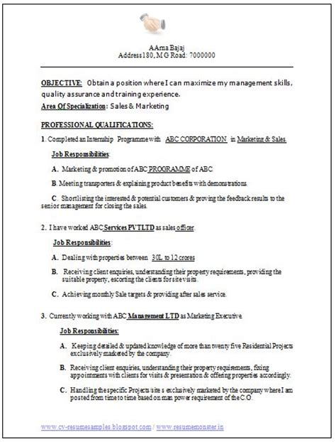 excellent resumes sles professional curriculum vitae resume template for all