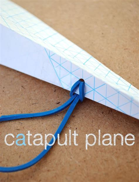 How To Make A Paper Catapult - catapult plane paper airplane with rubber band launcher