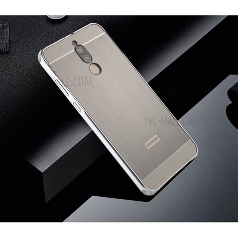 Huawei 2i Aluminium Metal Bumper Brushed Cover Casing for huawei mate 10 lite 2i maimang 6 slide on metal bumper pc phone cover grey