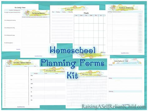 printable homeschool planning forms kit evergreen planner