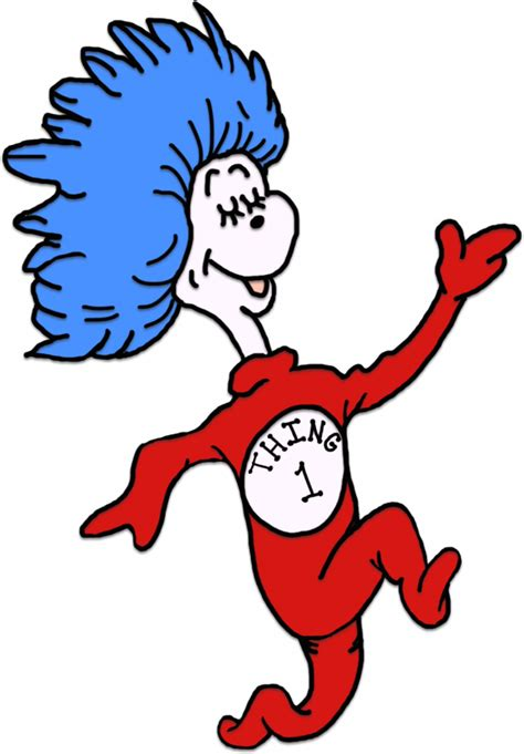 think color dr seuss coloring pages thing 1 and thing 2 clipart