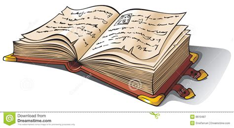 clipart libri libro aperto antico illustrazione vettoriale