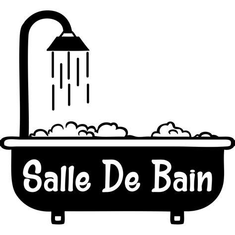 Sticker Baignoire by Sticker Porte Salle De Bain Baignoire Avec Mousse
