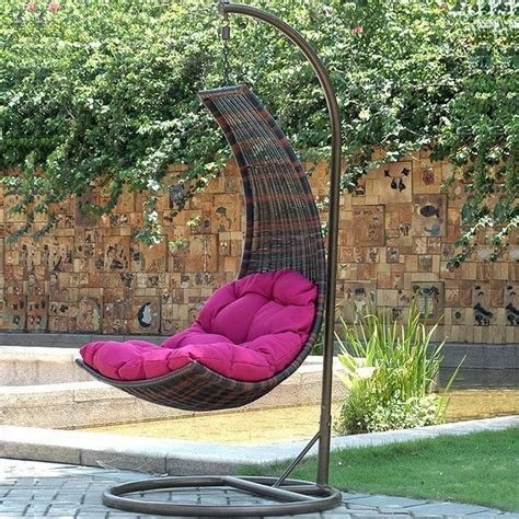 hanging outdoor chair 10 fun and stylish wicker hanging chairs ideas and designs